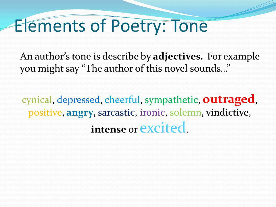 Elements of Poetry: Tone