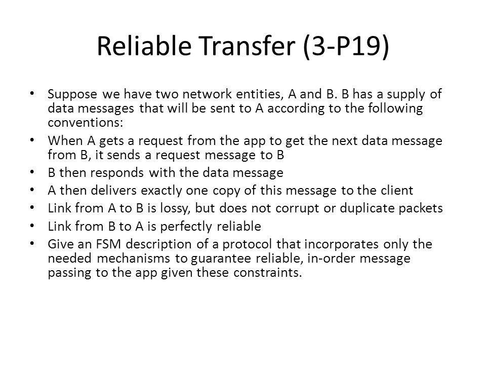 Reliable Transfer (3-P19)