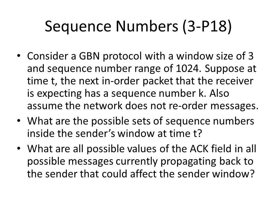 Sequence Numbers (3-P18)