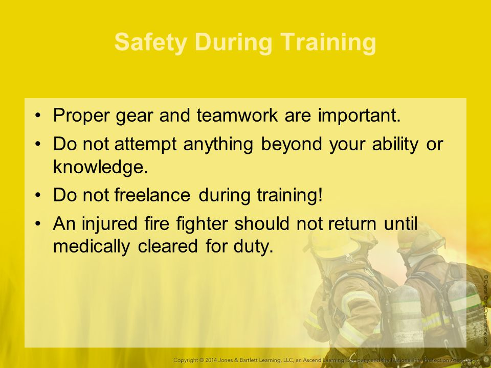 Safety During Training