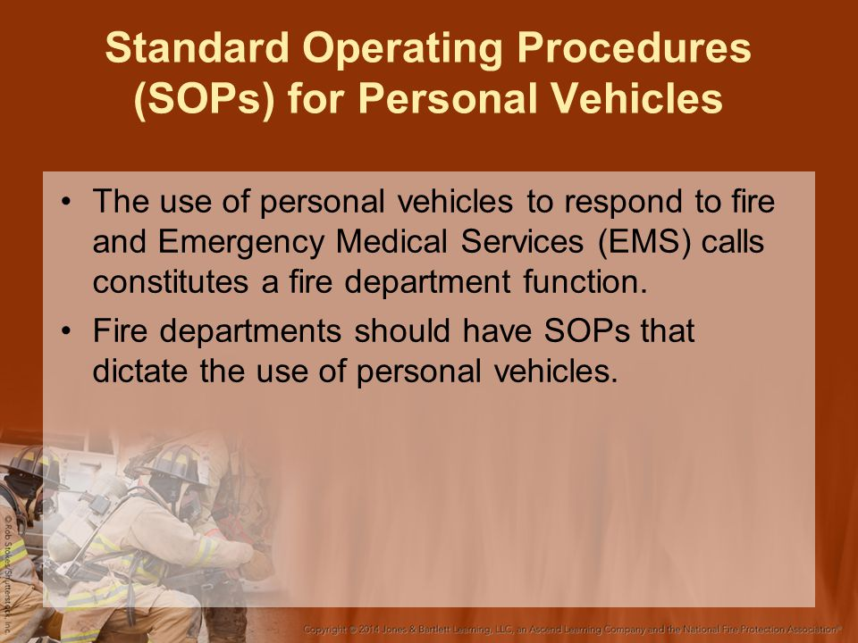 Standard Operating Procedures (SOPs) for Personal Vehicles