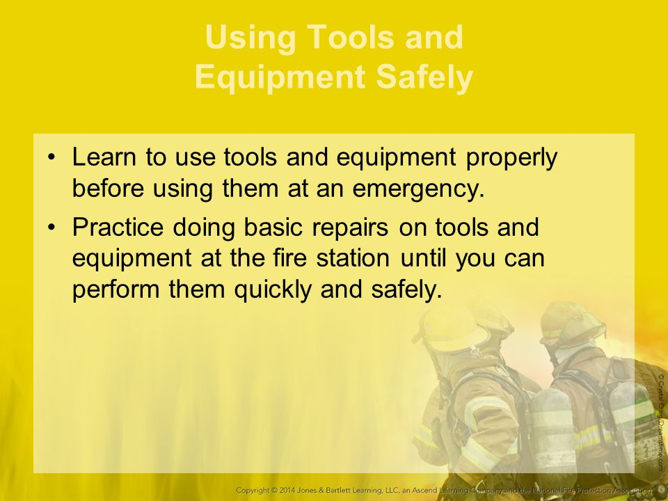 Using Tools and Equipment Safely