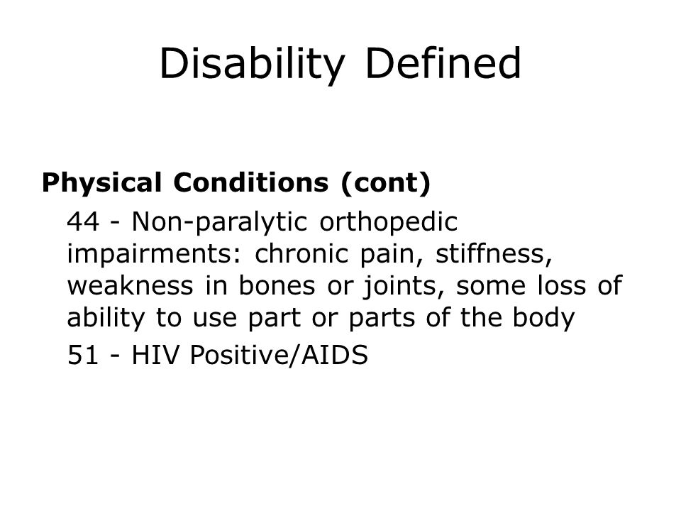 Disability Defined
