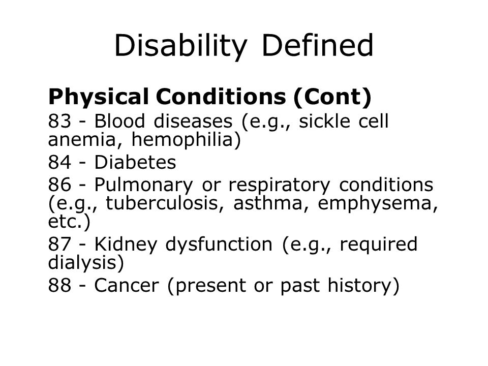Disability Defined 84 - Diabetes