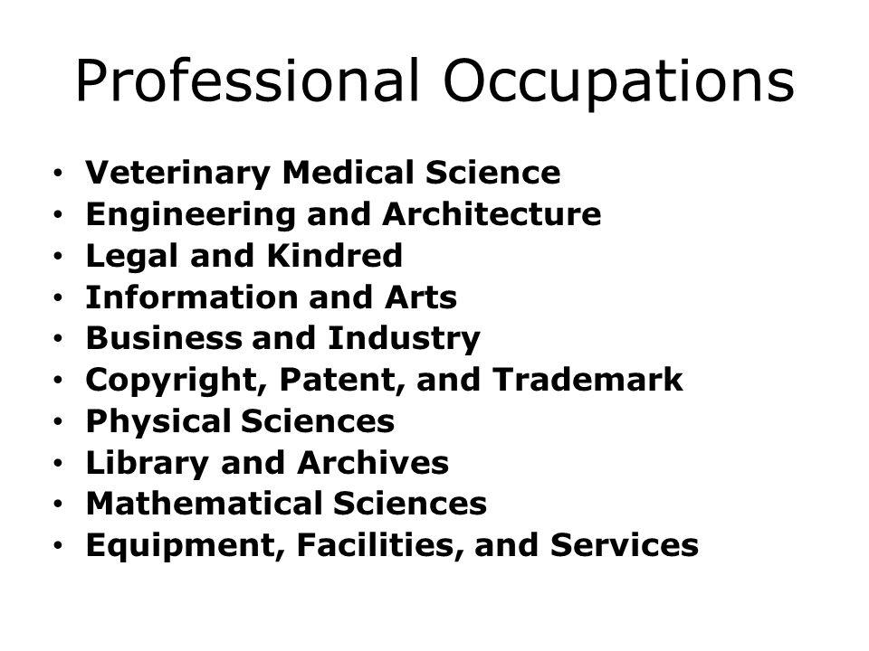 Professional Occupations