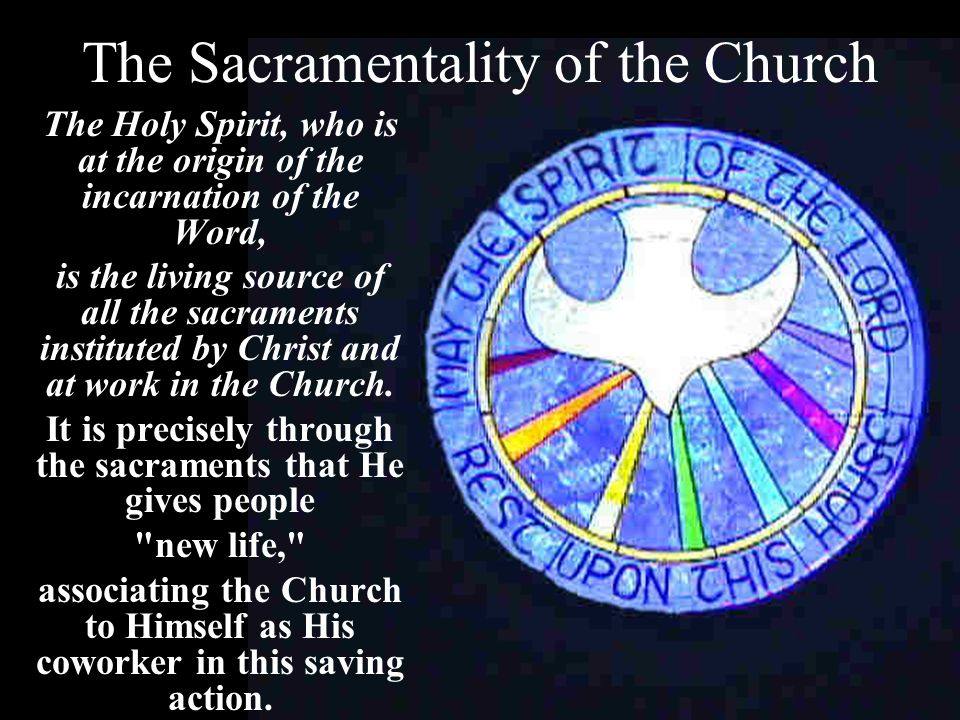 The Sacramentality of the Church