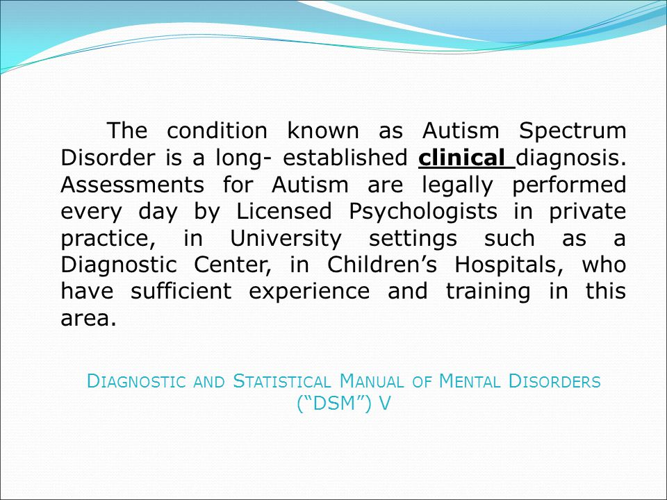 Diagnostic and Statistical Manual of Mental Disorders ( DSM ) V
