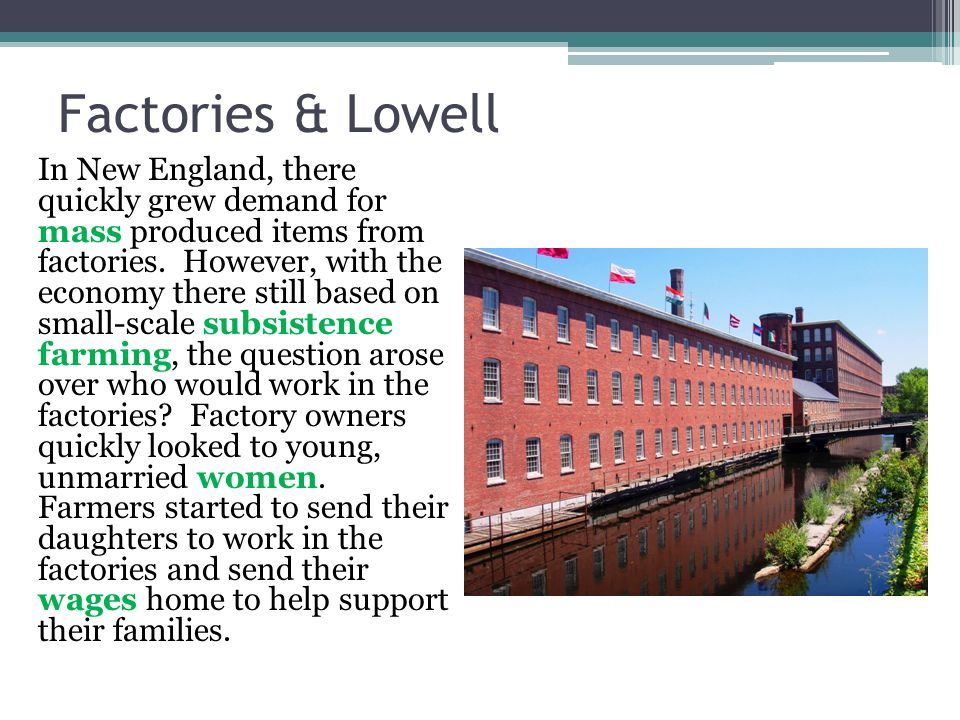 Factories & Lowell