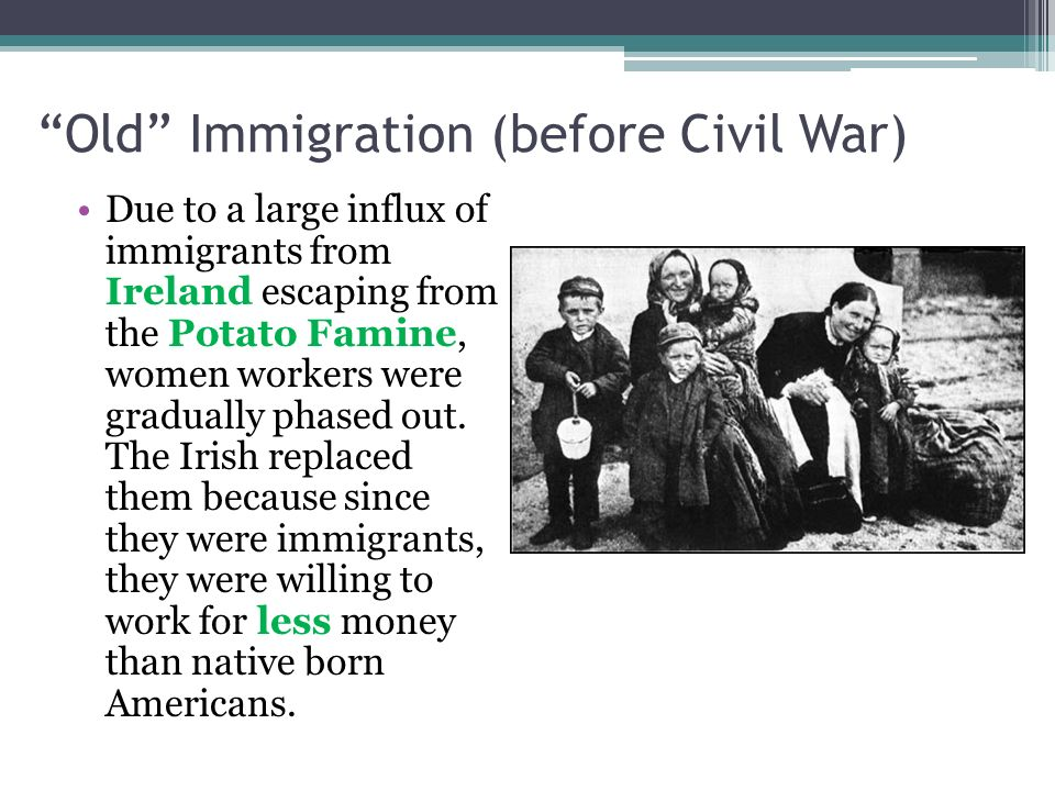 Old Immigration (before Civil War)