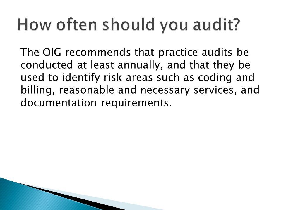 How often should you audit