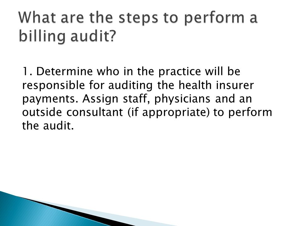 What are the steps to perform a billing audit