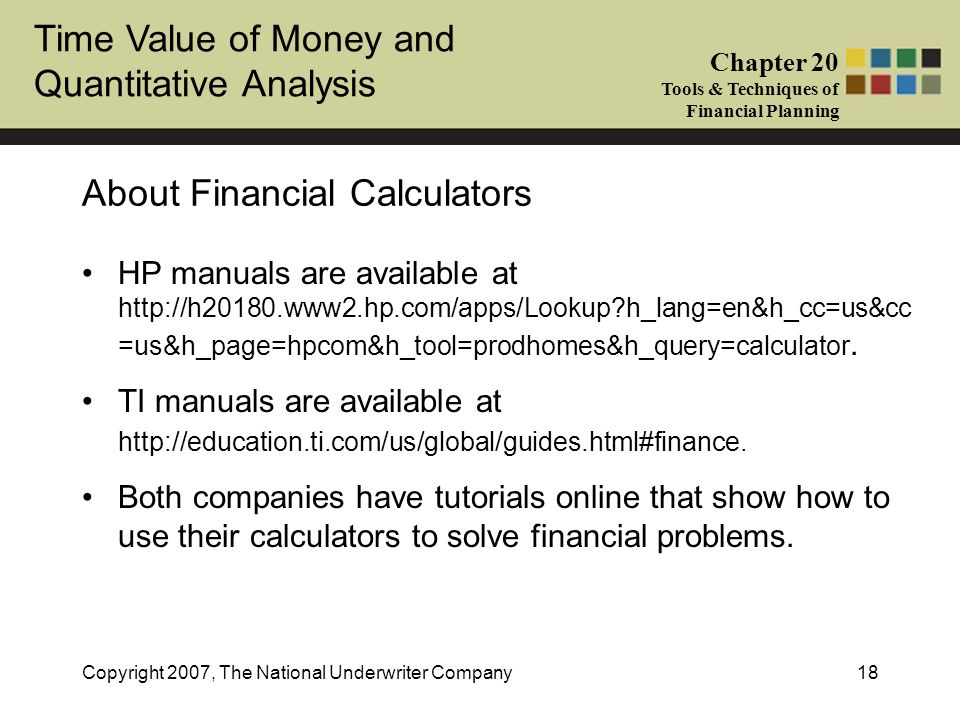 About Financial Calculators