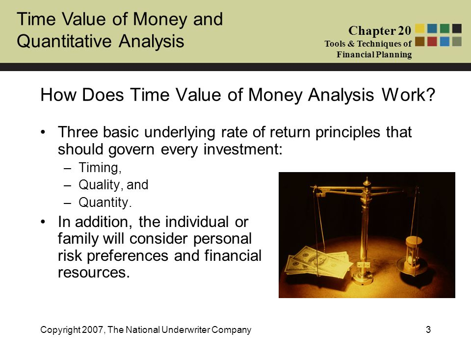 How Does Time Value of Money Analysis Work