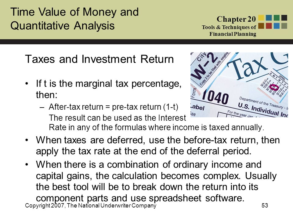Taxes and Investment Return