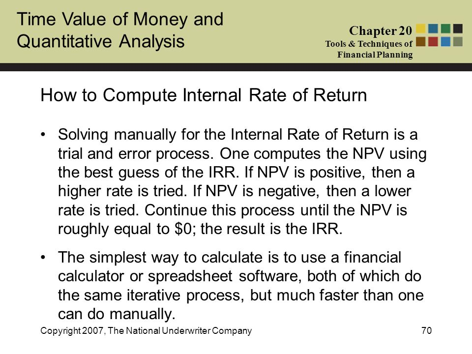 How to Compute Internal Rate of Return
