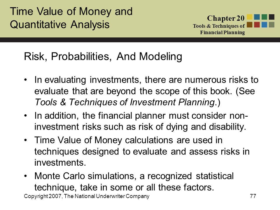 Risk, Probabilities, And Modeling