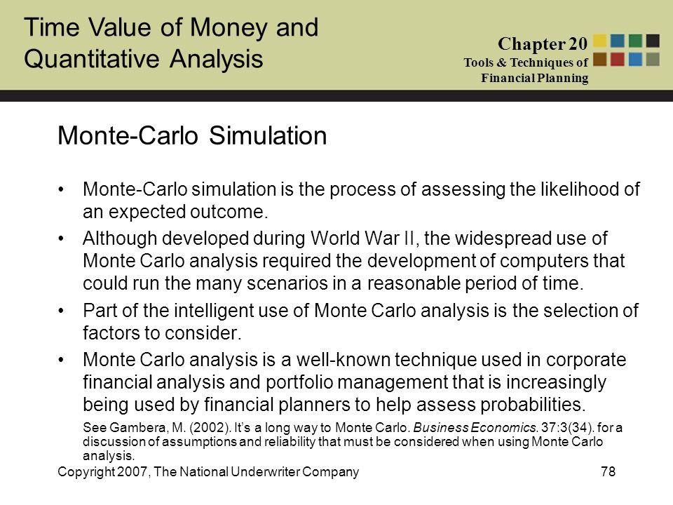 Monte-Carlo Simulation