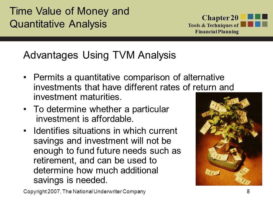 Advantages Using TVM Analysis