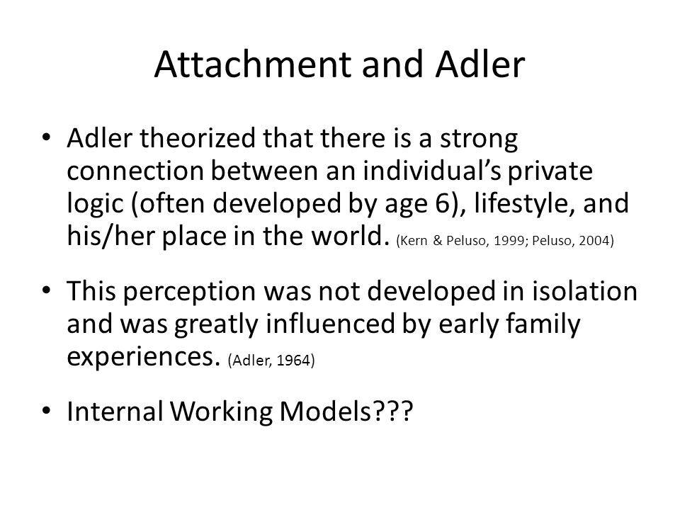 Attachment and Adler
