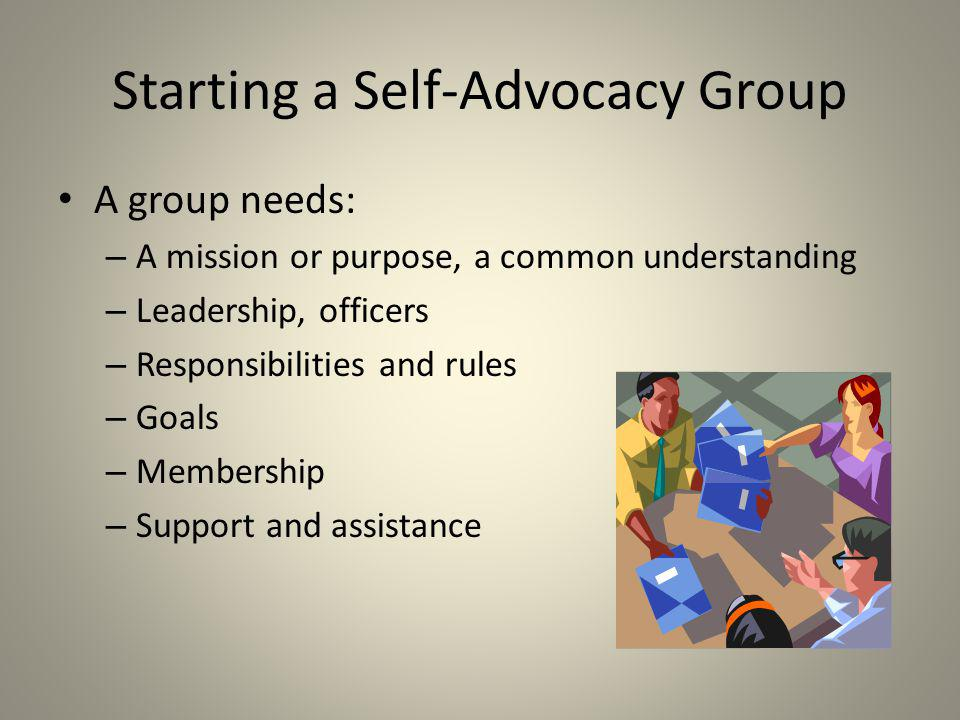 Starting a Self-Advocacy Group