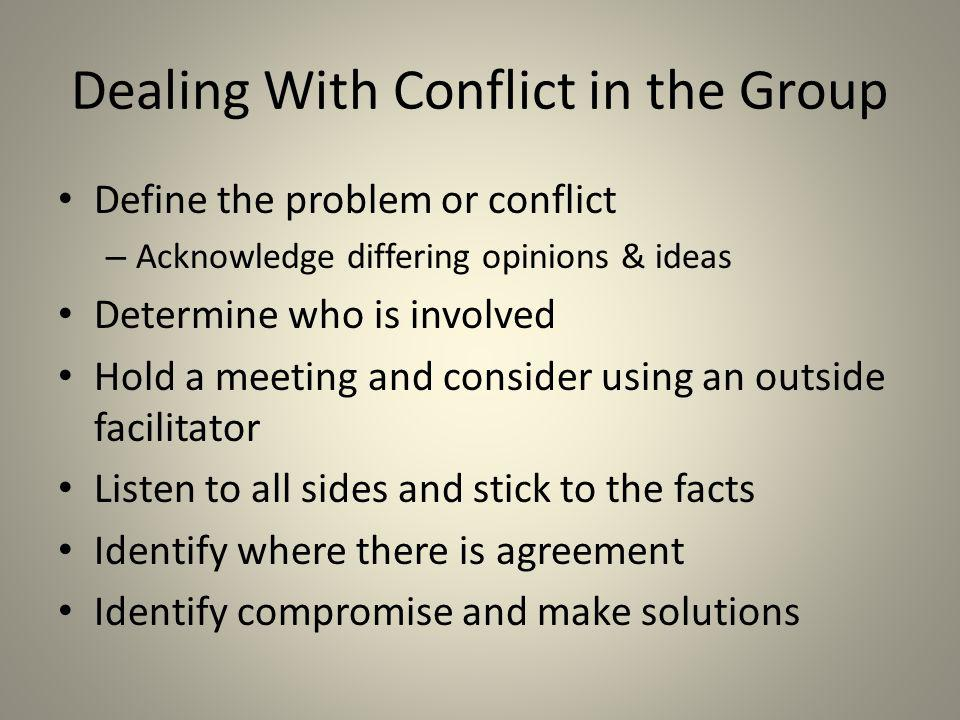 Dealing With Conflict in the Group