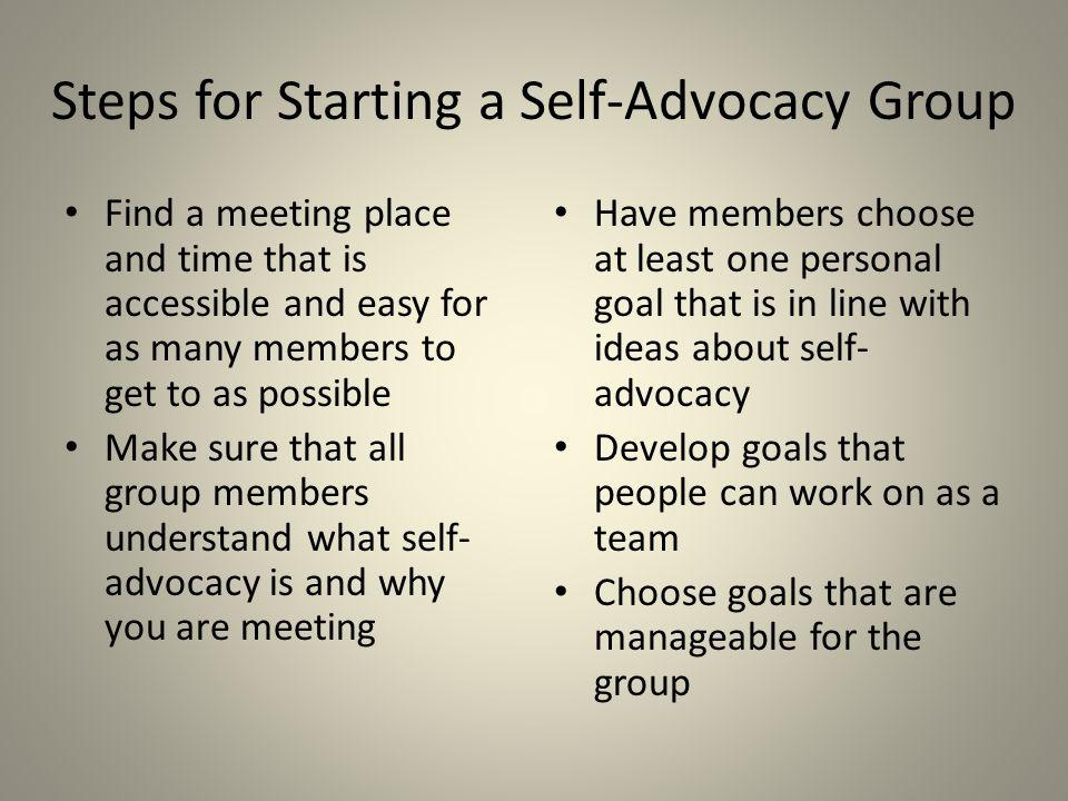 Steps for Starting a Self-Advocacy Group