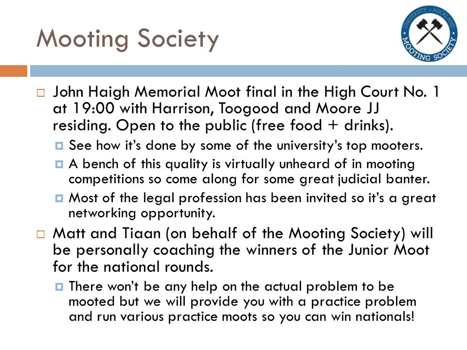Mooting Society