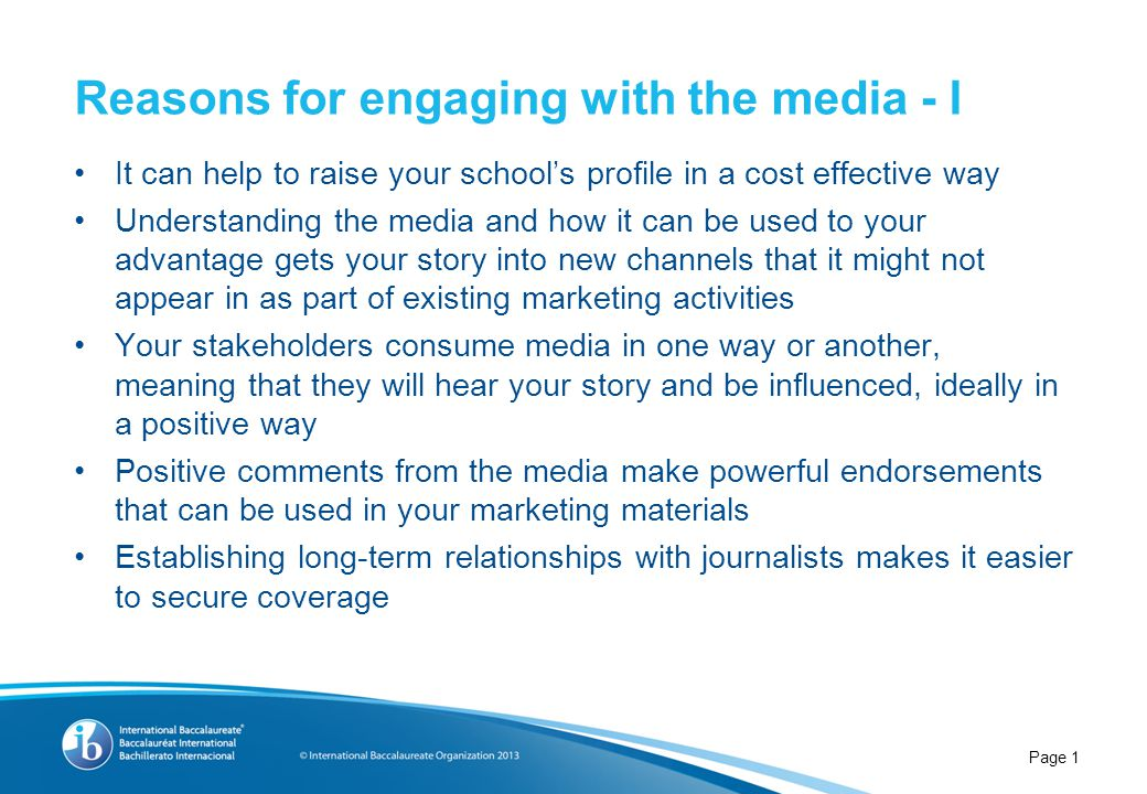 Reasons for engaging with the media - II