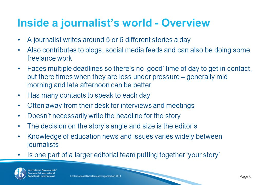 Inside a journalist's world – Maximise the chances of getting coverage I