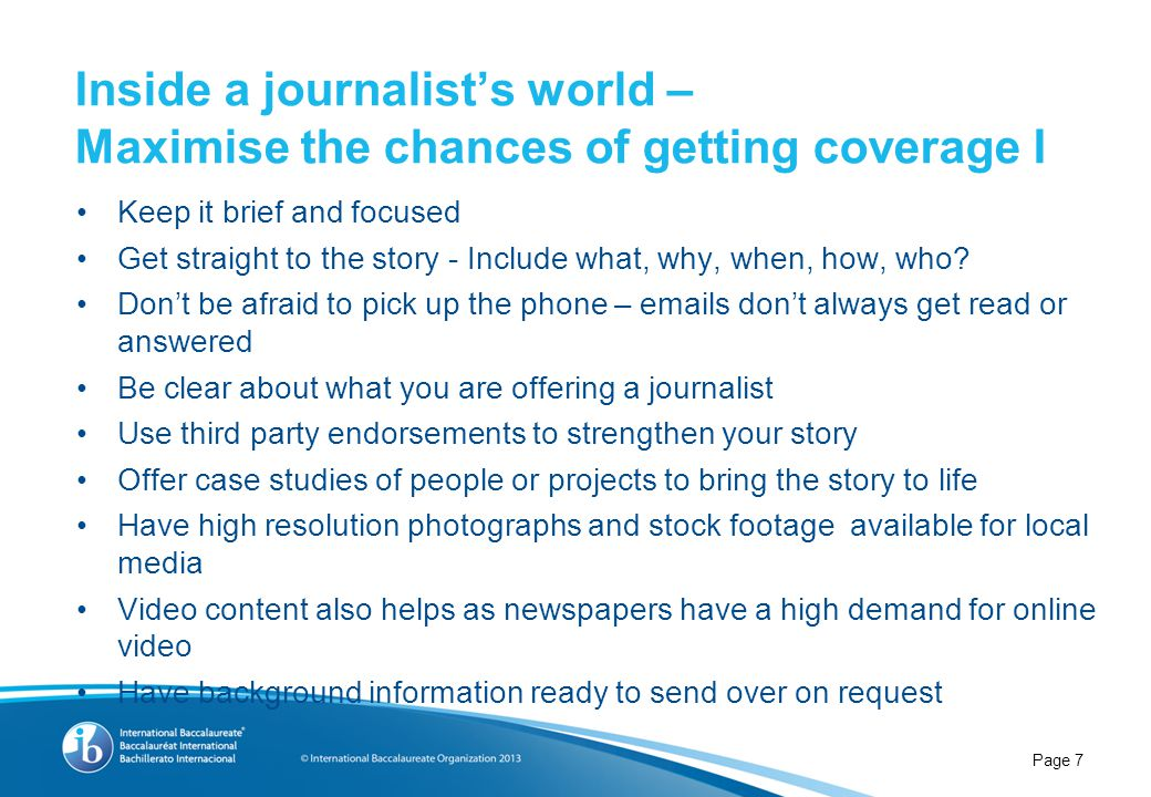 Inside a journalist's world – Maximise the chances of getting coverage II