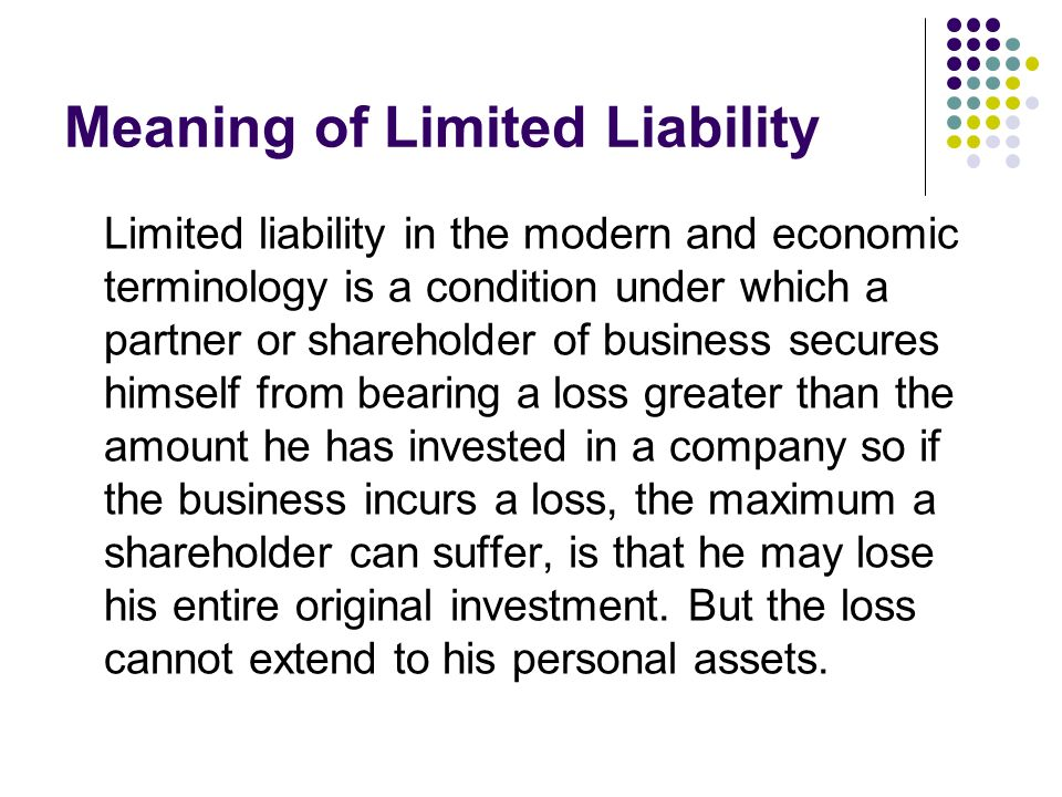 Meaning of Limited Liability