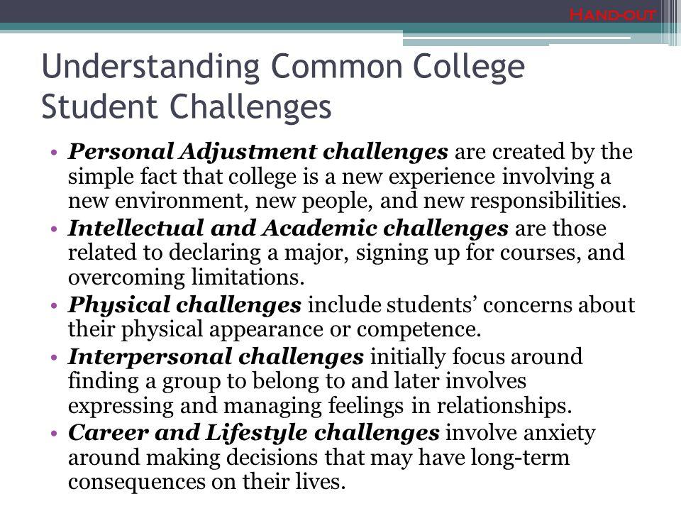 Understanding Common College Student Challenges