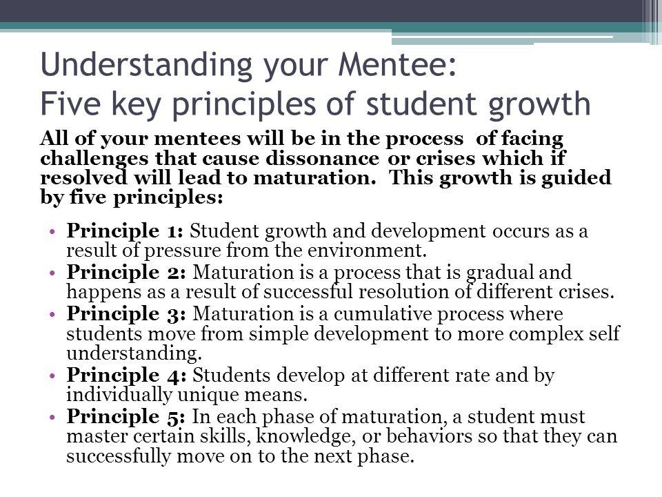 Understanding your Mentee: Five key principles of student growth
