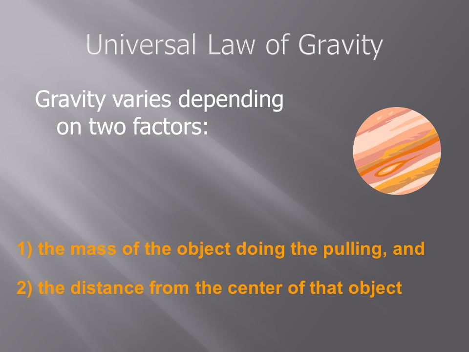 Universal Law of Gravity