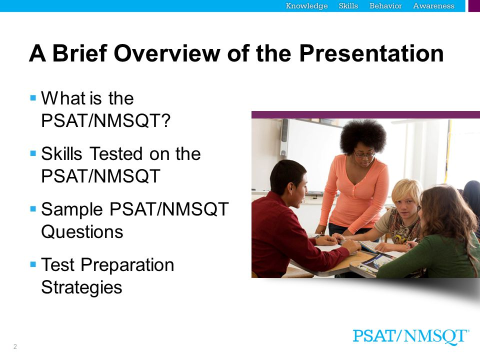 A Brief Overview of the Presentation