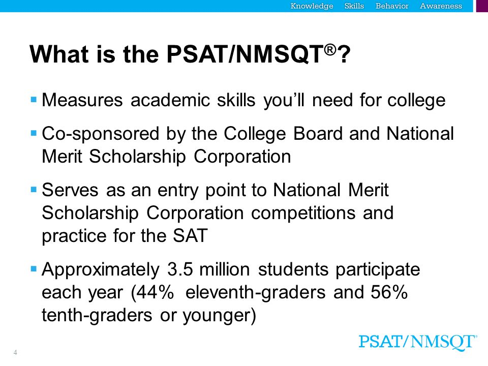What is the PSAT/NMSQT®