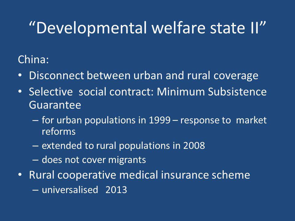 Developmental welfare state II