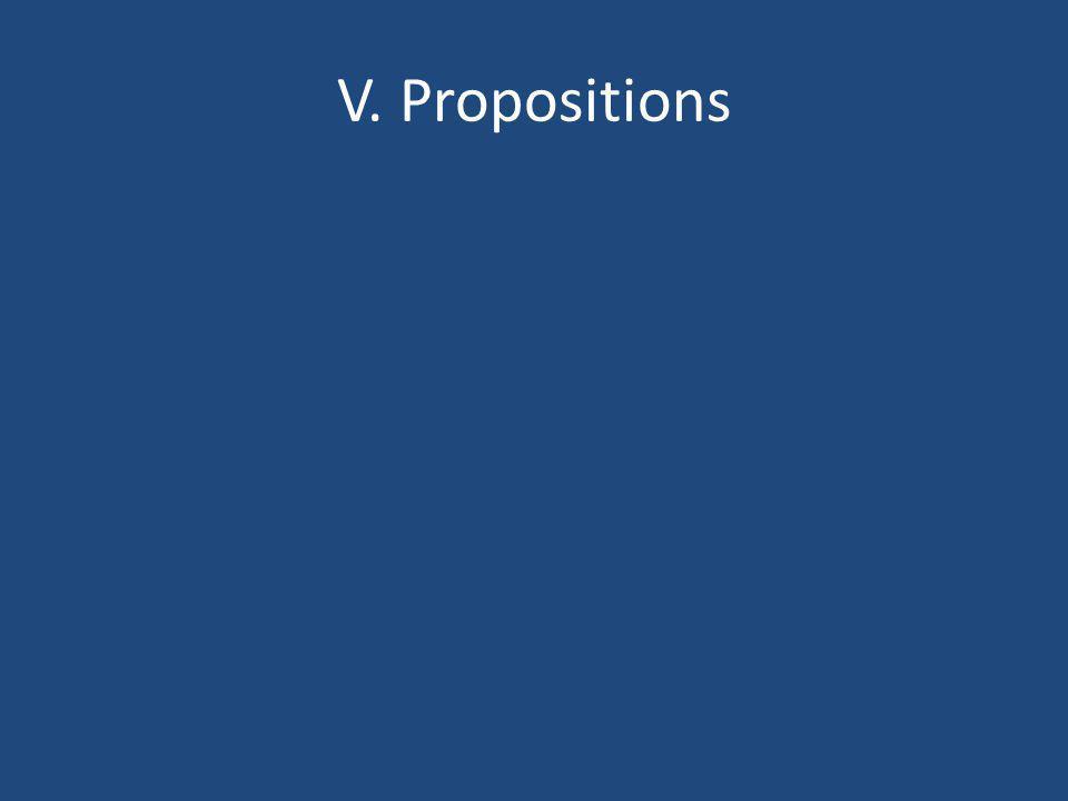 V. Propositions