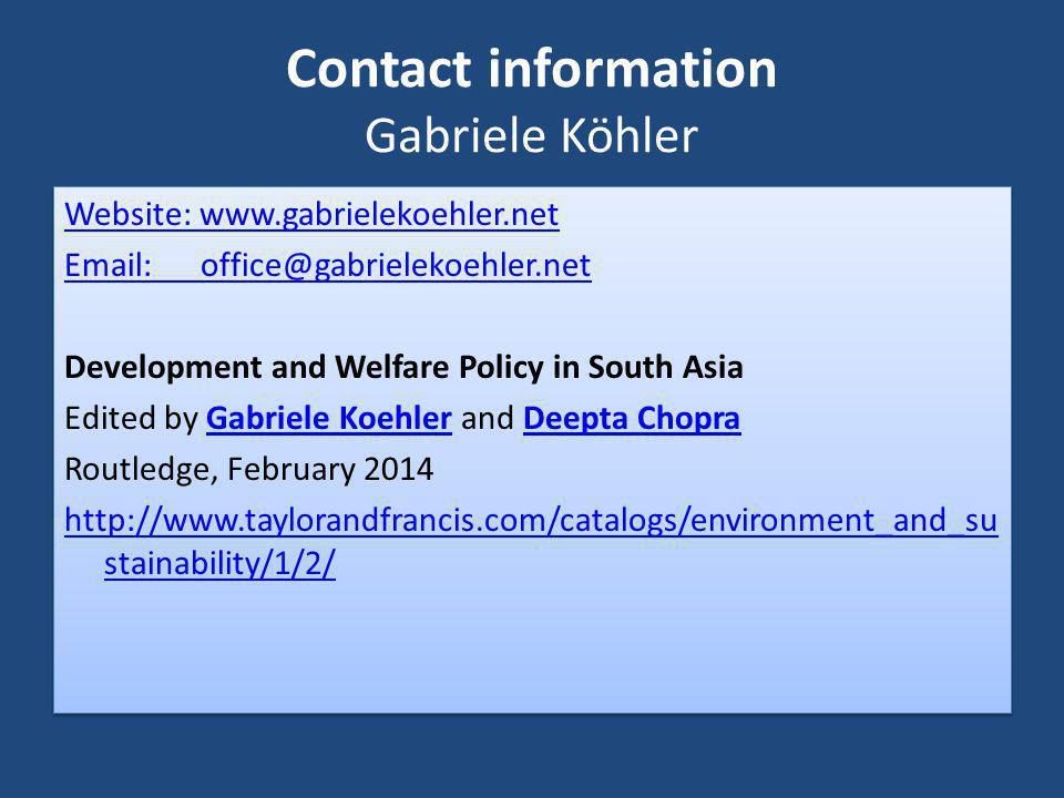 Contact information Gabriele Köhler