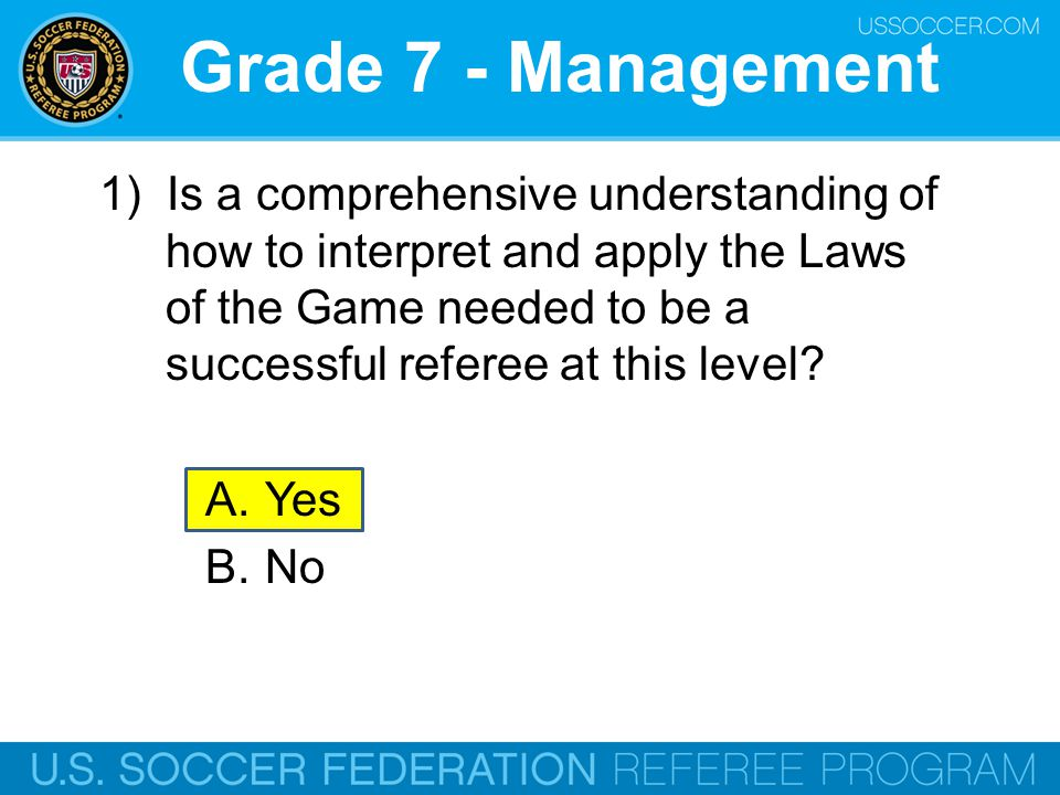 Grade 7 - Management