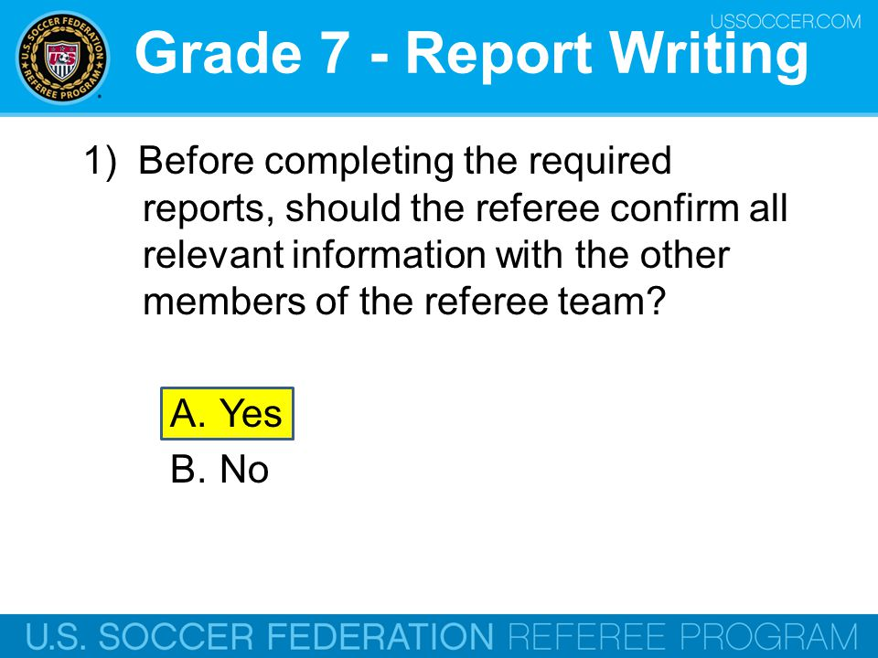 Grade 7 - Report Writing