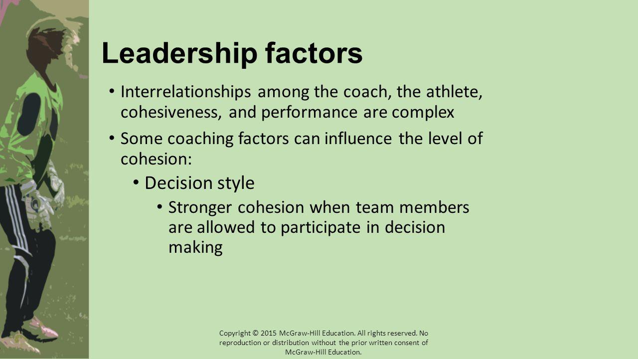 Leadership factors Decision style