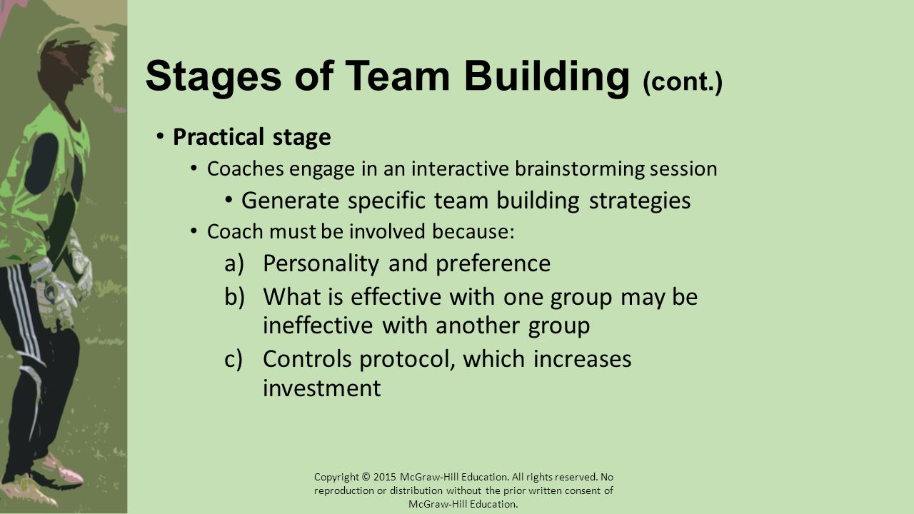 Stages of Team Building (cont.)