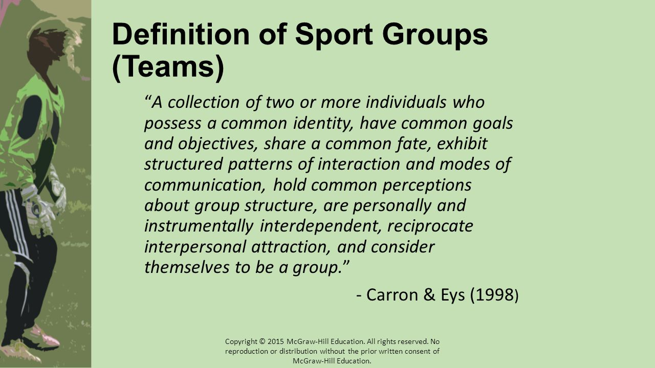 Definition of Sport Groups (Teams)