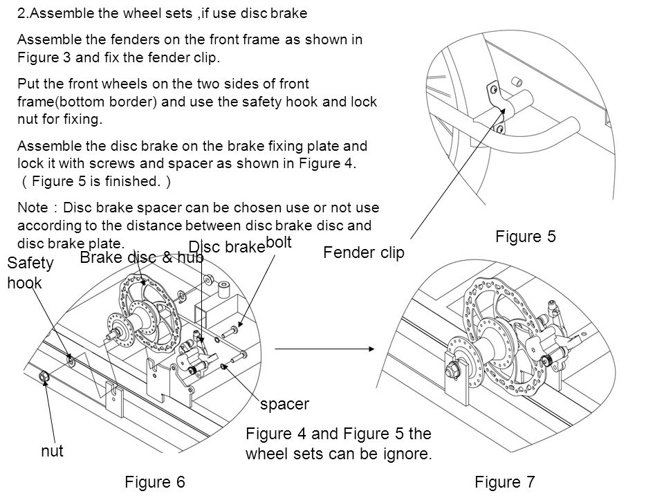 Figure 4 and Figure 5 the wheel sets can be ignore. nut