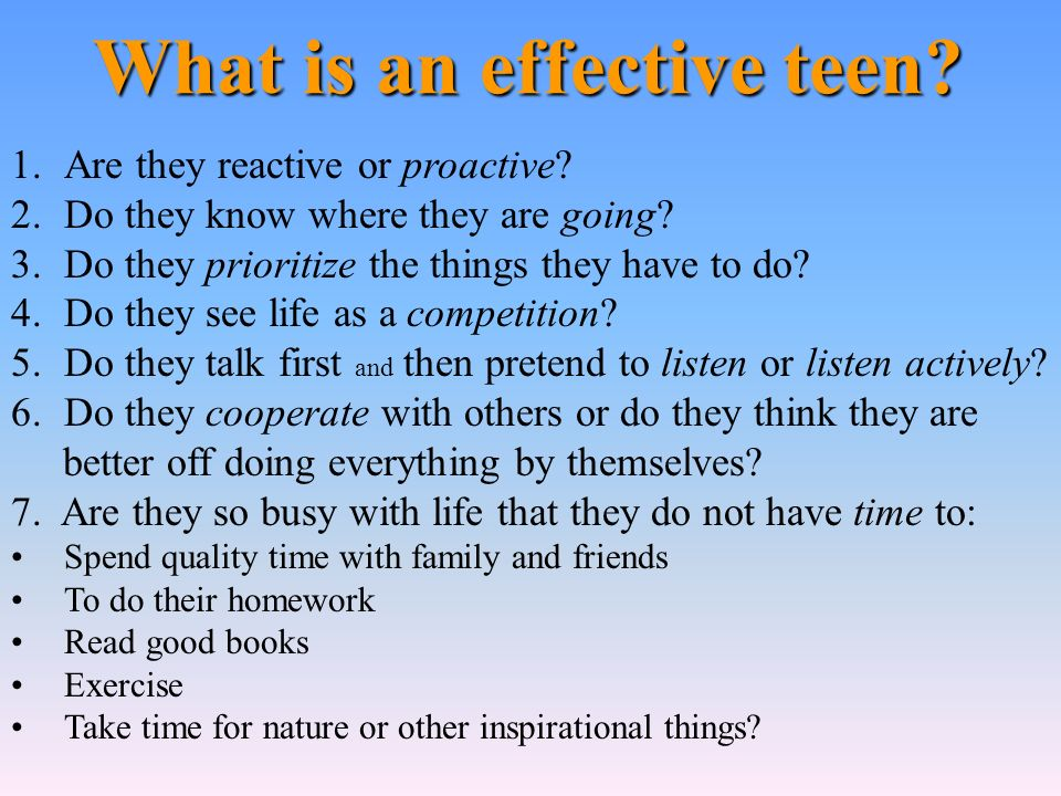 What is an effective teen