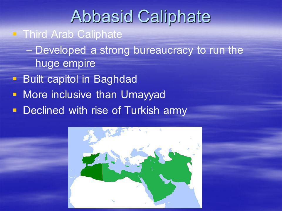 Abbasid Caliphate Third Arab Caliphate