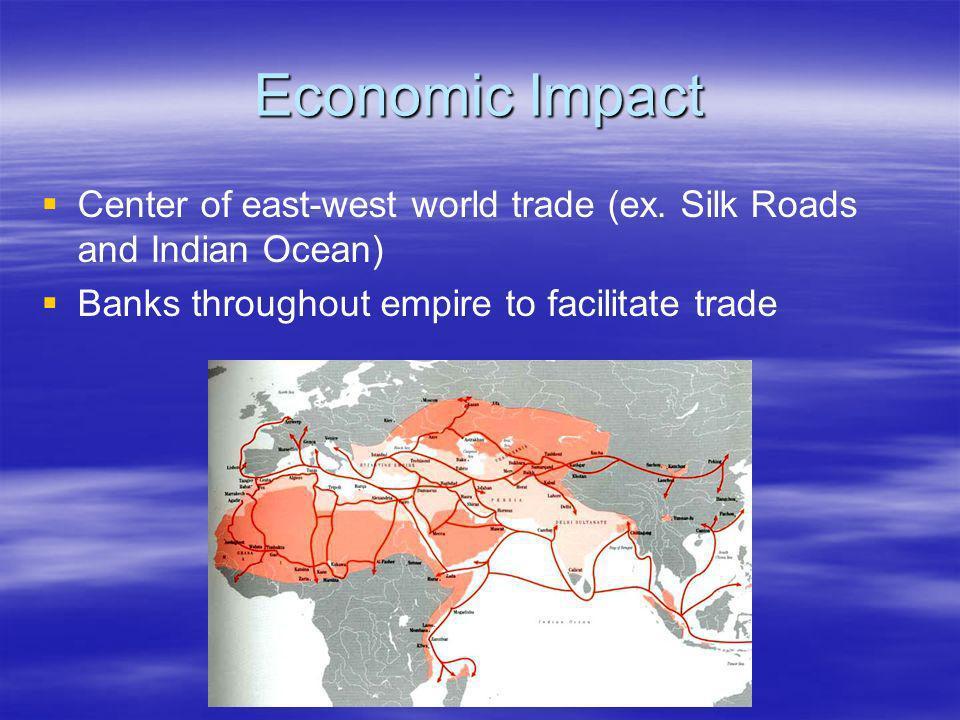 Economic Impact Center of east-west world trade (ex.