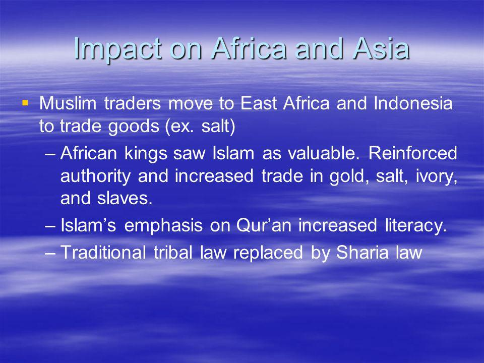 Impact on Africa and Asia