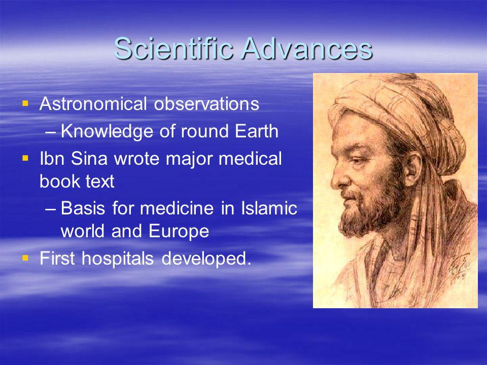 Scientific Advances Astronomical observations Knowledge of round Earth